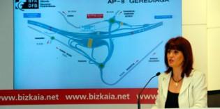 La Diputación de Bizkaia pone en servicio el nuevo enlace de la AP-8 en Gerediaga