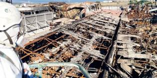 Amianto y Gestión  descontamina la fábrica Palacios en Arguedas