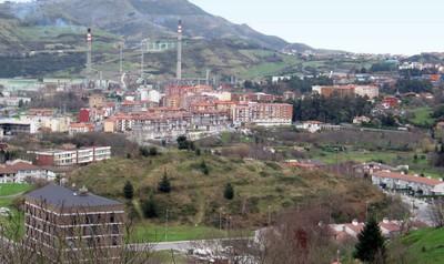 Muskiz renueva la nueva línea de alumbrado en Carrascal