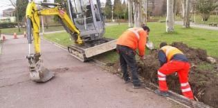 Vitoria inicia las obras de reparación de caminos en el parque de San Martín