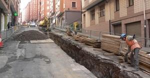 Sestao comienza la reforma de la calle Juan Tomás de Gandarias