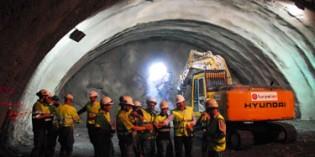 Finalizada la excavación del principal túnel de la Variante de Bermeo