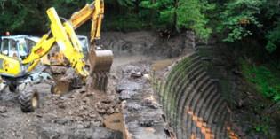 Comienza la segunda fase de demolición de la presa de Inturia