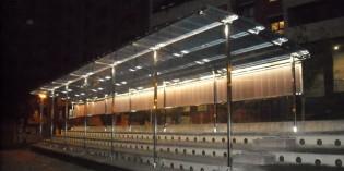 Galdakao instala una cubierta en la plaza de Berezikoetxe