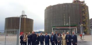 Inaugurado el nuevo tanque de gas natural licuado de Bahía Bizkaia