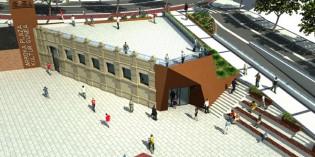 La fachada de la Casa de Baños se integrará en la Plaza Arroka