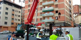 Instalados los primeros pasillos rodantes de la L-3 de Metro de Bilbao