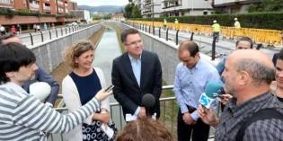Las mejoras en el río Gobela, en Getxo, concluirán en verano de 2016