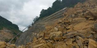 Gipuzkoa repara el desprendimiento de rocas entre Antzuola y Bergara
