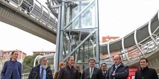 Bilbao estrena ascensor vertical en Zorrozgoiti
