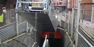ETS instala las escaleras mecánicas en la Línea 3 de Metro Bilbao