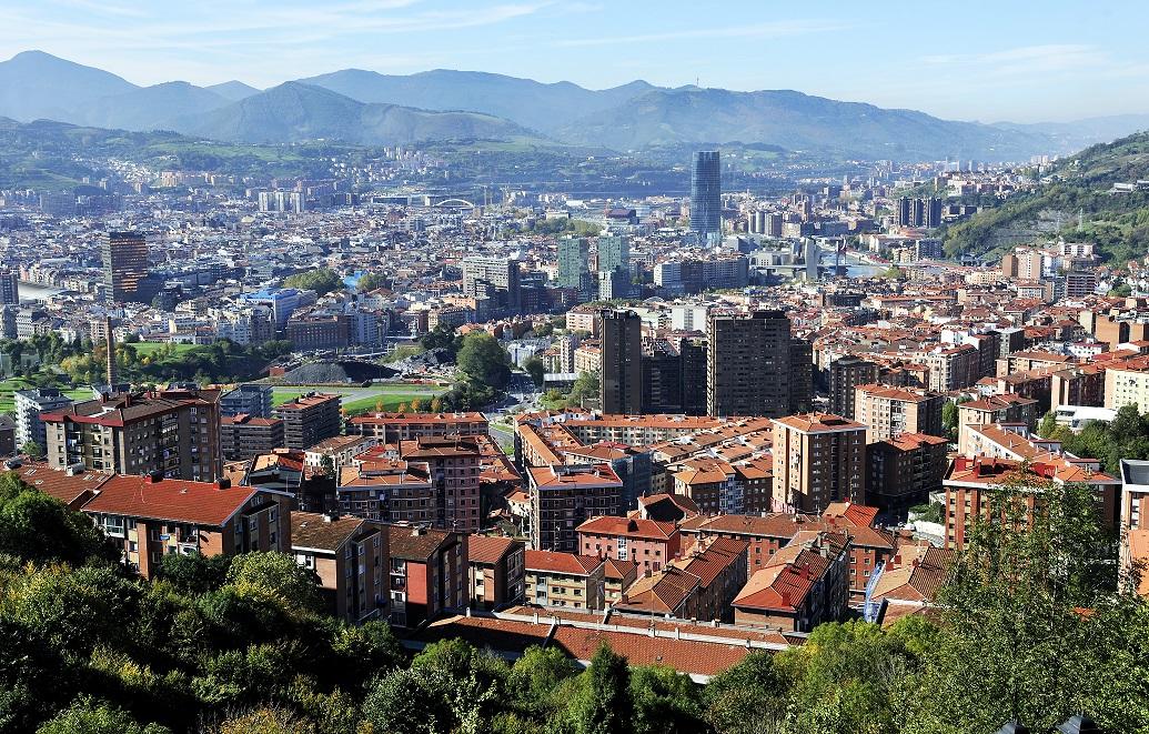 Vista panorámica de Bilbao. Torre Iberdrola