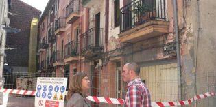 Lakua derriba 4 portales de la calle Carranza en Sestao