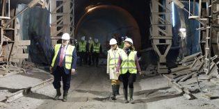Norman Foster visita las obras de la Línea 3 del Metro