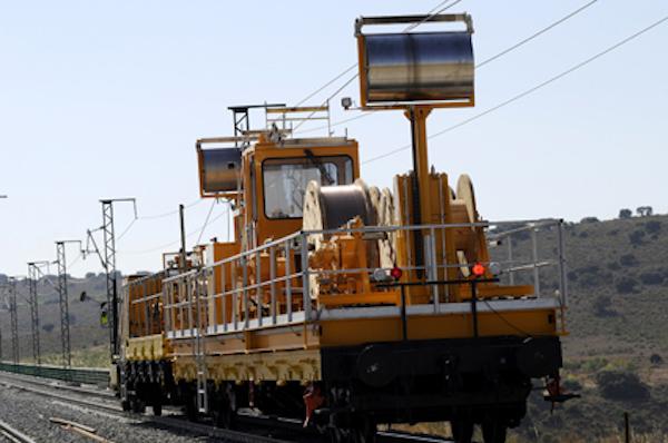 Tendido de catenaria. Tramo, Motilla del Palancar - Valencia. Subtramo, Iniesta - Minglanilla. PK 270.