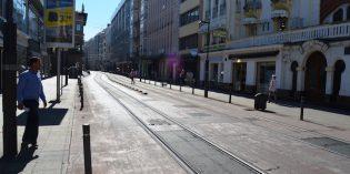 ETS repavimenta el trazado del tranvía de Vitoria