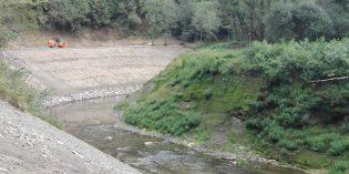URA acaba la consolidación de las márgenes previstas en las obras demolición de la presa de Inturia