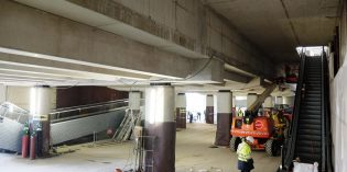 Llegan las escaleras mecánicas a la estación intermodal de Casco Viejo de Bilbao
