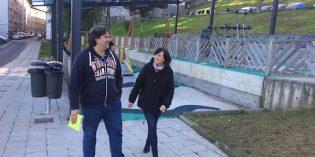 Santurtzi estrena en San Juan la primera zona cubierta de columpios