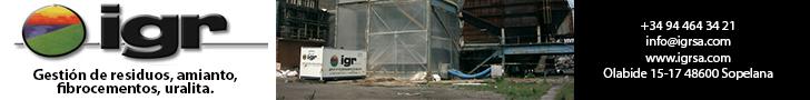 IGR,SA. Gestión de residuos, amianto, fibrocementos, uralita.