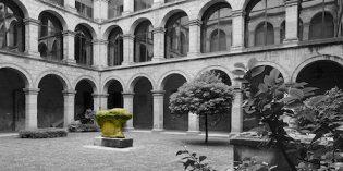 El claustro del Museo Vasco se cubrirá en diciembre.