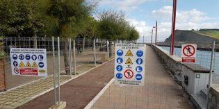 La reconstrucción del dique de Zumaia finalizará tras el verano