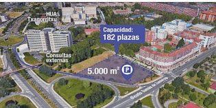 Vitoria construirá un parking de 182 plazas en Txagorritxu