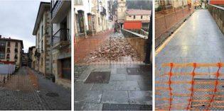 Urretxu sustituirá el pavimento de la calle Jauregui.