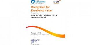 La Fundación Laboral de la Construcción, reconocida con el Sello de Excelencia Europea EFQM 400+