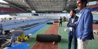 Acuerdo para la reforma de la pista de atletismo del Velódromo