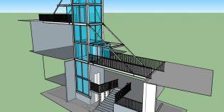 Santurtzi inicia las obras del ascensor urbano de Señorío de Bizkaia