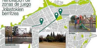 Vitoria acometerá la renovación de tres zonas de juegos infantiles