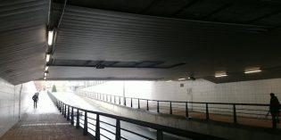 Barakaldo repara el techo del paso subterráneo de Manolo Travieso