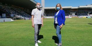 Arranca la reforma de la cubierta del estadio de Lasesarre