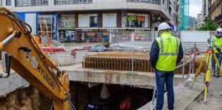 ETS inicia la excavación del acceso de Xabier Zubiri a la futura estación de Centro-La Concha
