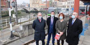 Comienzas las obras de ampliación del tranvía de Bilbao a Bolueta