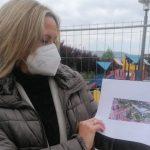 Barakaldo cubre el parque infantil de la plaza de las esculturas