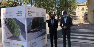 La nueva plaza de la Memoria contará con un aparcabicis de 200 plazas