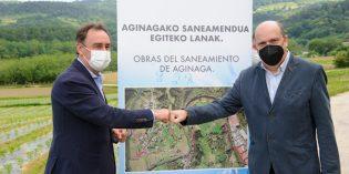 URA y Añarbe acuerdan la ejecución del saneamiento de Aginaga en Usurbil