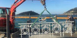 Donostia renovará 152 metros de barandilla de La Concha