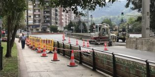 Galdakao inicia la mejora del entorno de la rotonda de Plazakoetxe
